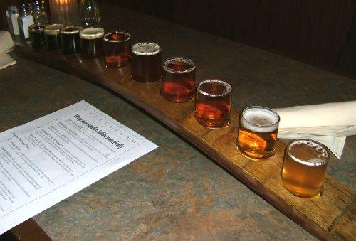 Golden Valley Brewery beer sampler