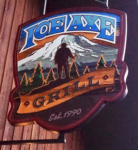 Ice Axe Grill and Mt. Hood Brewing sign