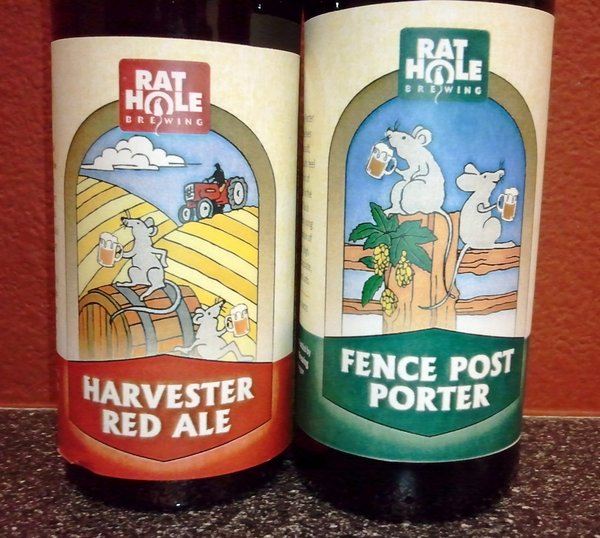 Rat Hole beers, closer look