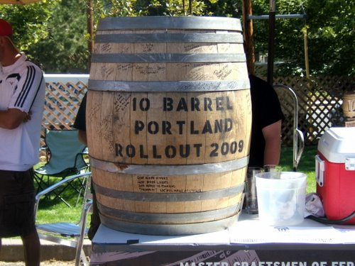 Bourbon barrel used by 10 Barrel Brewing