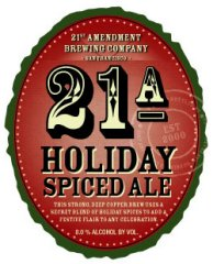 21st Amendment Holiday Spiced Ale