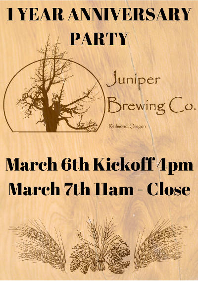 Juniper Brewing 1-year anniversary