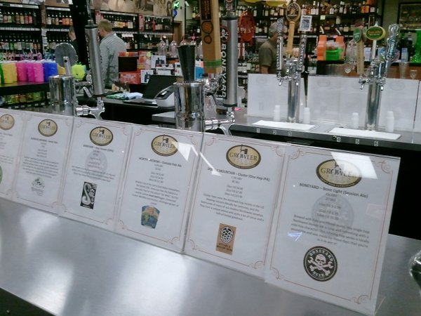Lincoln City growler fills