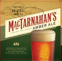 MacTarnahan's new Amber Ale packaging