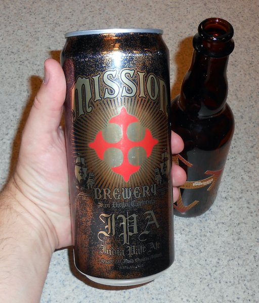 Quart can of Mission Brewery IPA