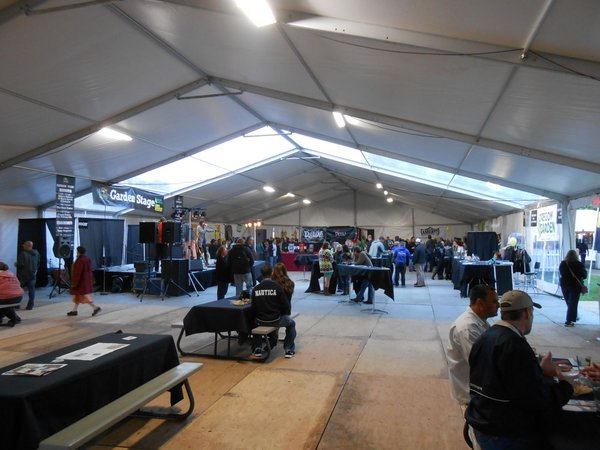 Inside the tent at Oregon Garden Brewfest