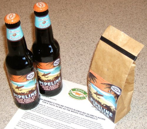 Pipeline Porter promo package from Kona Brewing (with Kona coffee)