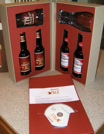 Anheuser-Busch Budweiser Ale promotional package