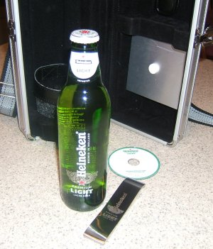 Heineken press kit package - contents