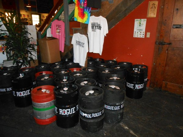 Rogue Astoria kegs