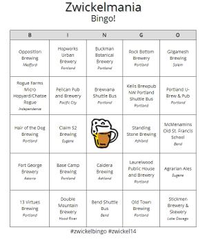 Zwickelmania Bingo