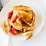 Ricotta Hotcakes with Caramel Mascarpone & Caramelised Bananas