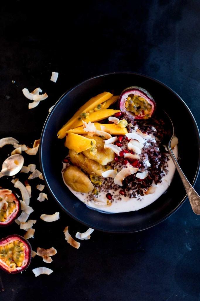 Mango & Coconut Black Sticky Rice Pudding