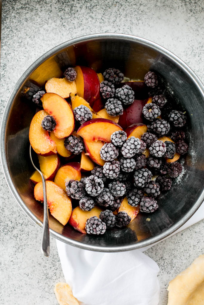 Peach Blackberry Pie - The Brick Kitchen