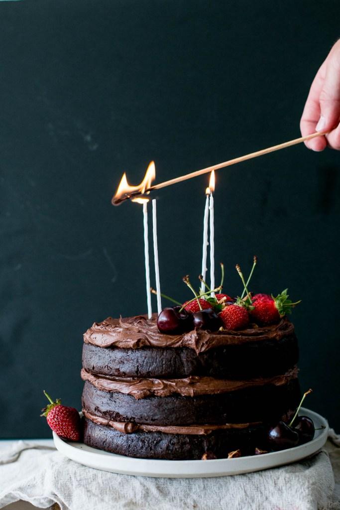 Flourless Chocolate Hazelnut Layer Cake - The Brick Kitchen
