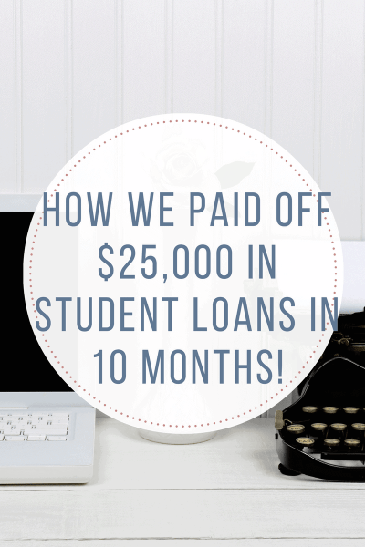 How We Paid Off $25,000 in Student Loans in 10 Months! - The Budget Girl