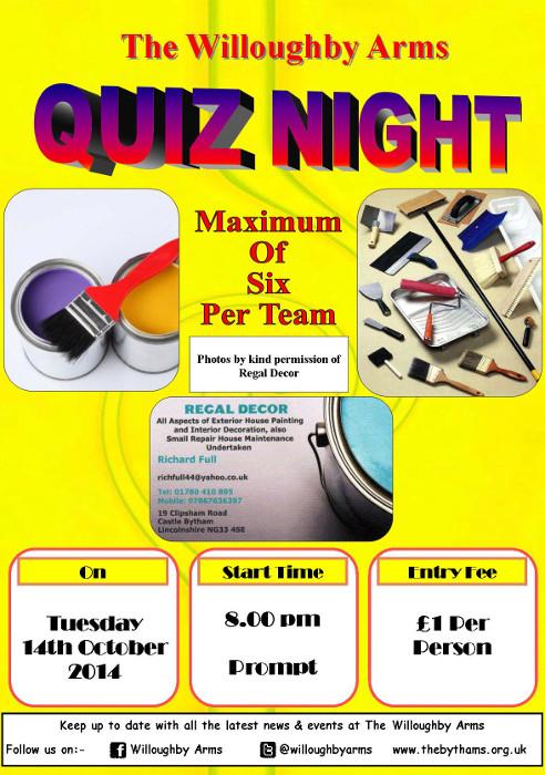 Pub quiz poster (14-10-2014)