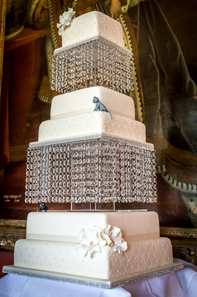 5 Tier Crystal Chandelier Wedding Cake