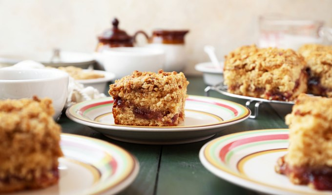 Peanut Butter and Jelly Coffee Cake