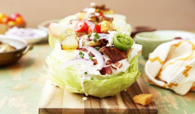 Roasted Idaho Potato Wedge Salad