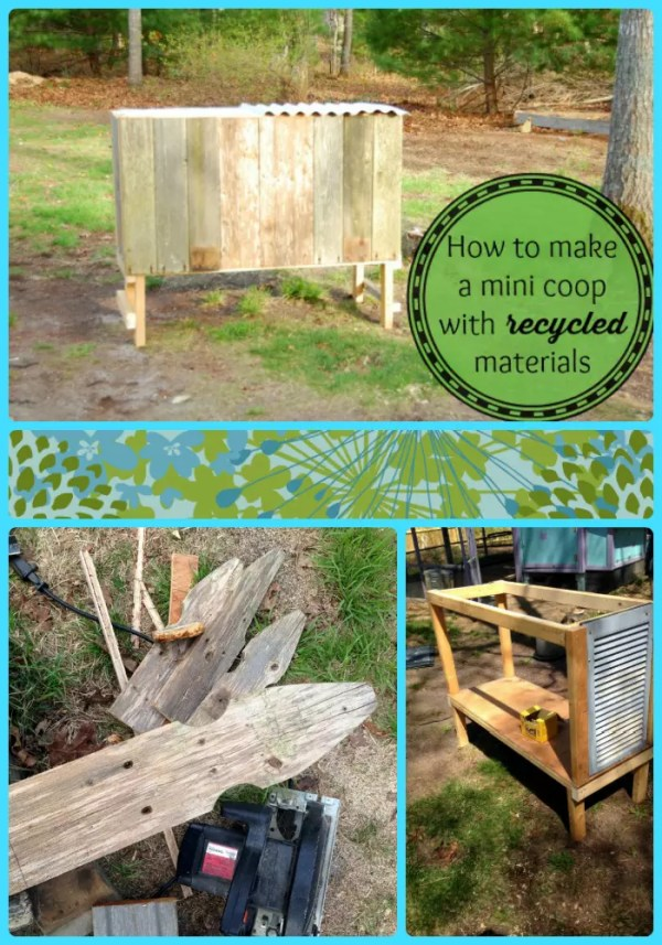 You don't need to spend a fortune to have a spare mini chicken coop. See how I made mine for $2!