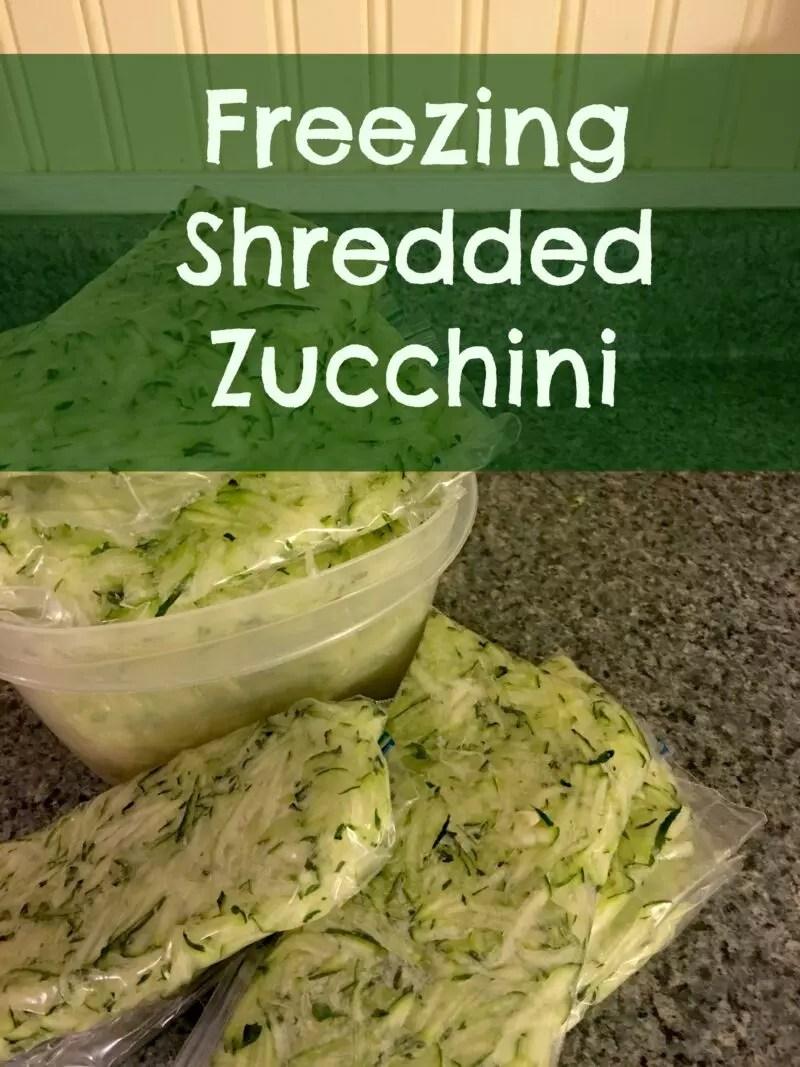 Freezing Shredded Zucchini