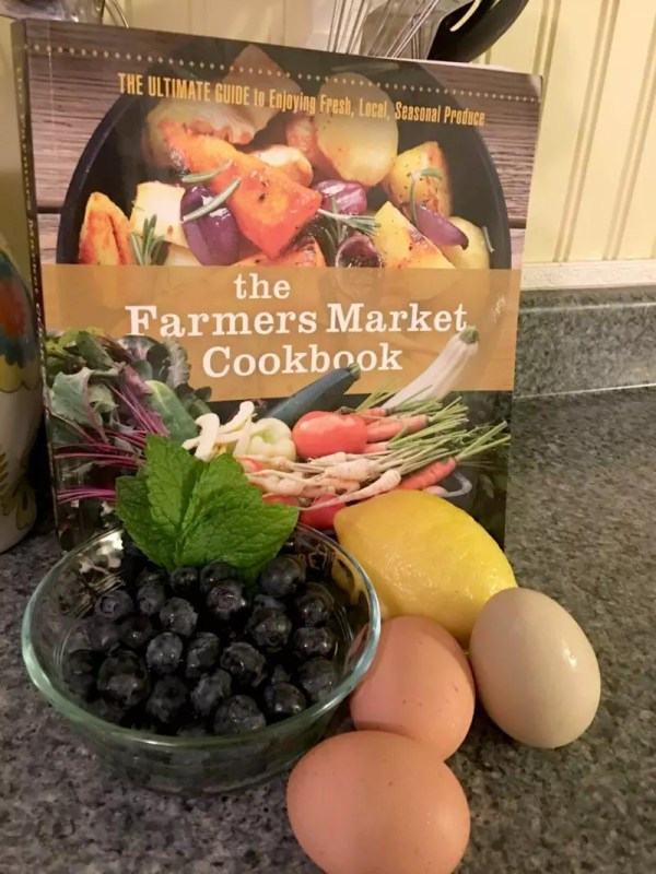 Blueberry Bread Pudding & The Farmers Market Cookbook