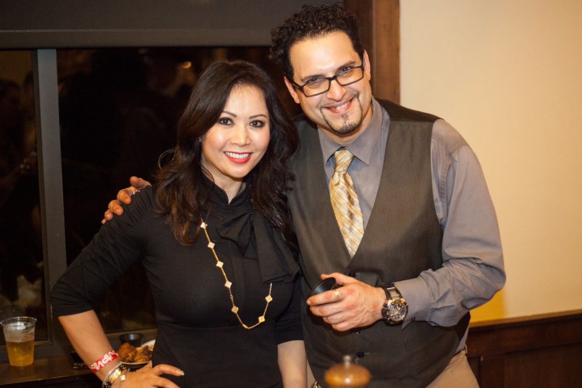 Vintage Steakhouse owner Heather Tran and manager Emilio. Photo: Alex Paris