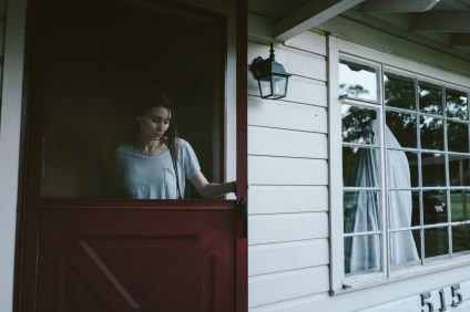 Rooney Mara as M and Casey Affleck as C. Photo credit: Bret Curry. Courtesy of A24.