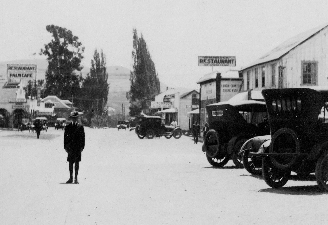 A boy stands in the middle of Camino Capistrano in this photo, circa 1920. Photo: Courtesy of Orange County Archives