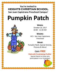 Pumpkin Patch Flyer 2017