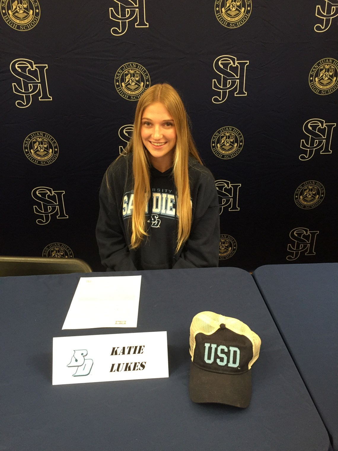 Katie Lukes will play volleyball for the University of San Diego. Photo: Courtesy
