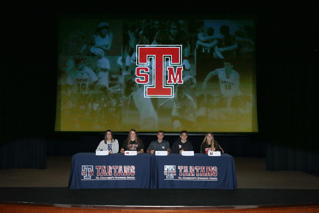 St. Margaret's student-athletes took part in a Signing Day ceremony on campus. Photo: Courtesy