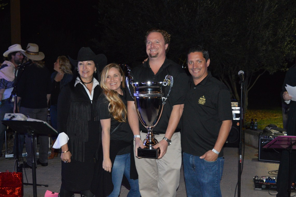 Trevor's At The Tracks won the Swallows Cup, for the most votes out of the 21 other establishments present. Photo: Emily Rasmussen