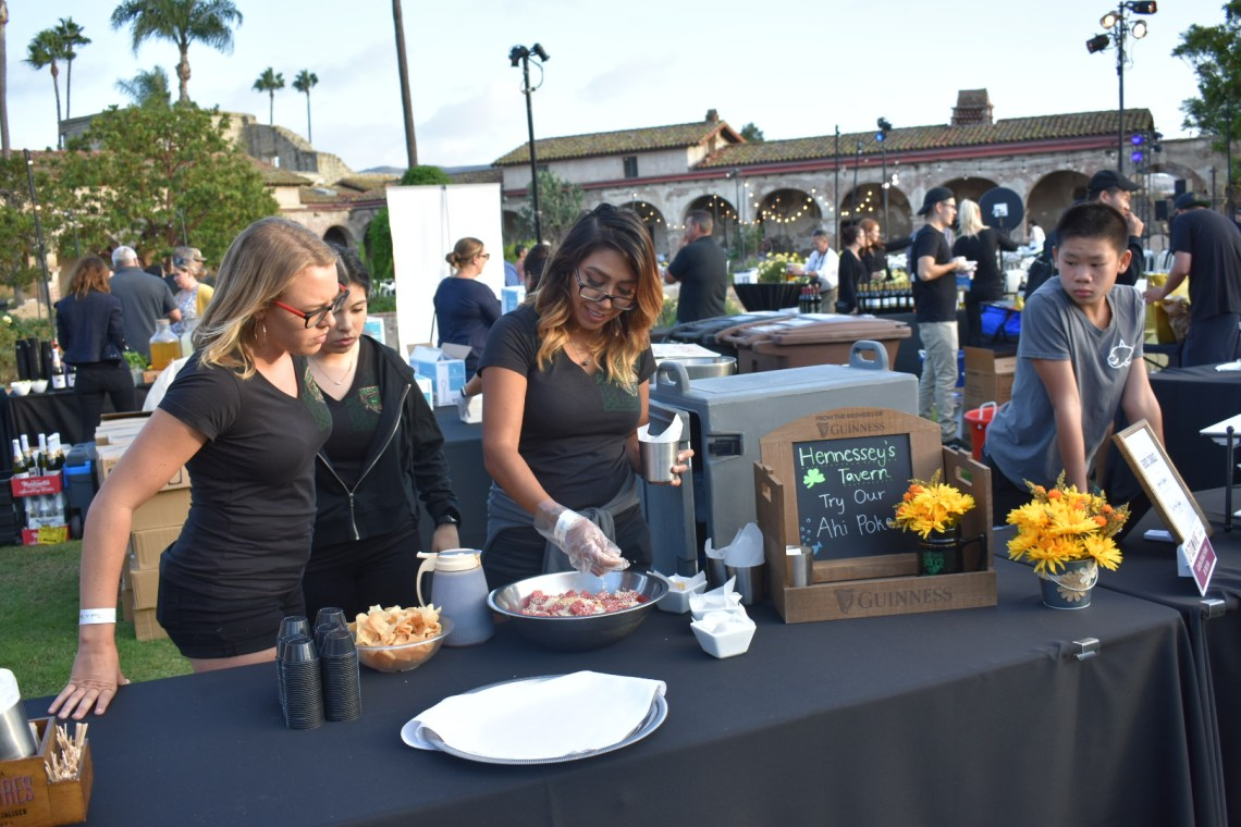 Hennessey's Tavern was serving Ahi Tuna Poke at The Vintage Food and Wine Festival, put on by the San Juan Capistrano Chamber of Commerce. Photo: Alex Groves