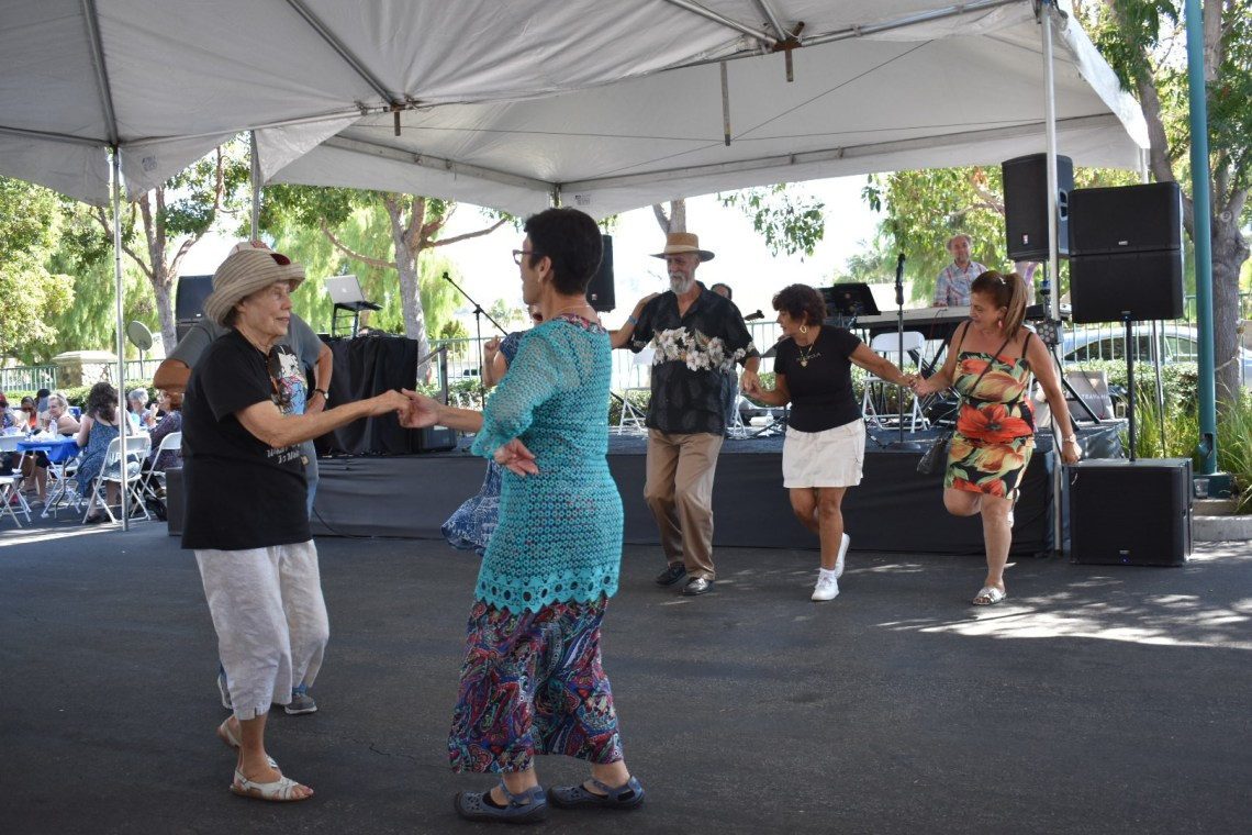 Visitors dance to Greek music at the annual San Juan Capistrano Greek Festival on Saturday, Sept. 29. Photo: Alex Groves