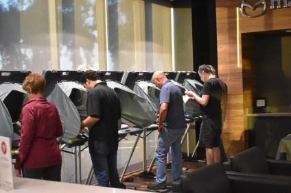 Residents of San Juan Capistrano's District 3 vote in the general election at Capistrano Mazda on Tuesday, Nov. 6.