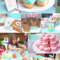 Mint, Pink and Gold Princess Party