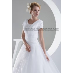Small Crop Of Organza Bridal Gown
