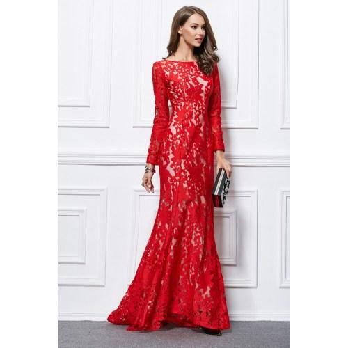 Medium Crop Of Long Red Dress