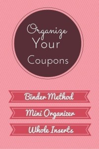 How to Organize your Coupons