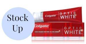 Colgate Optic White ONLY $.50 at CVS
