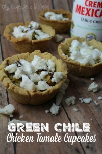 Green Chile Chicken Tamale Cupcakes