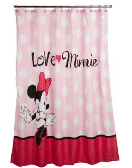 Amazon Disney Minnie Mouse Fabric Shower Curtain 10