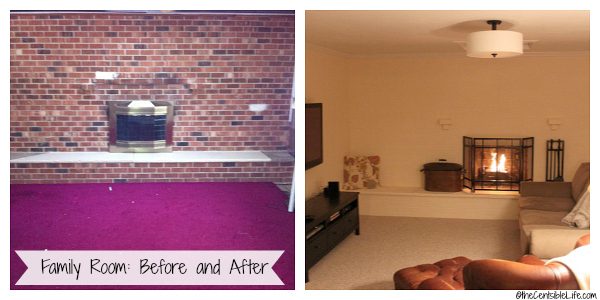 Family Room Before and After