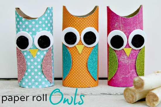 How To Make An Owl Paper Roll Craft