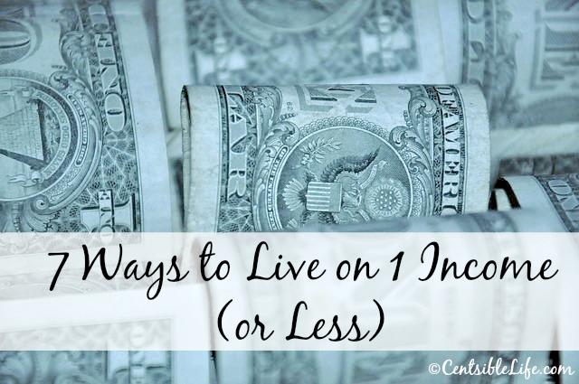 7 Ways to Live on 1 Income