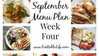 September Meal Plan: Week Four