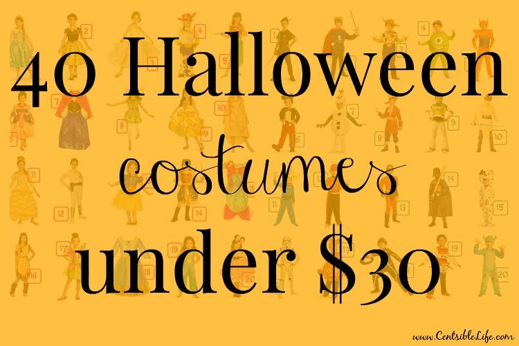 40 halloween costumes under $30