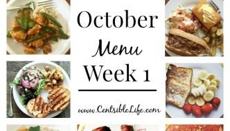 October Menu Plan: Week One